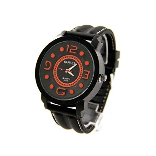 Armbanduhr Silikon schwarz SANEESI 954