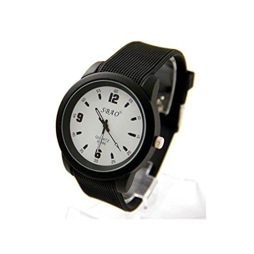 Armbanduhr Silikon schwarz sbao 1814