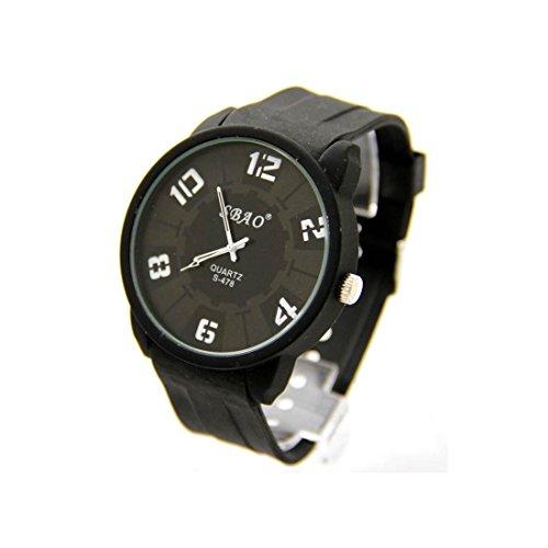 Armbanduhr Silikon schwarz sbao 1897