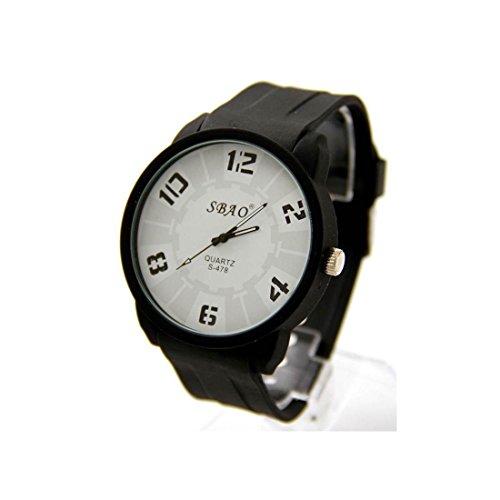 Armbanduhr Silikon schwarz sbao 1907