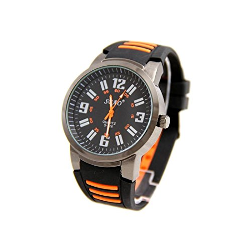 Armbanduhr Silikon schwarz sbao 2349