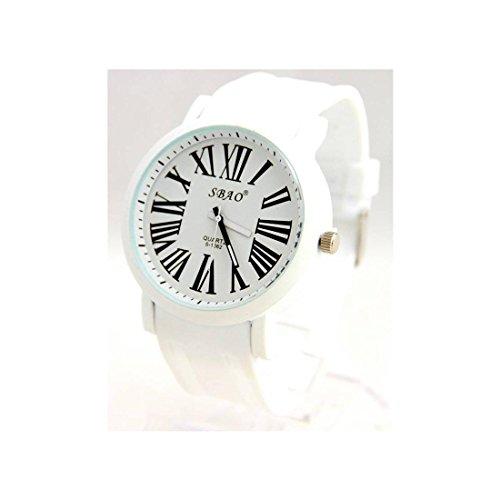 Armbanduhr Silikon Weiss kleinen Preis sbao 996