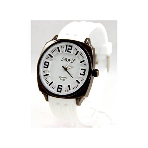Armbanduhr Silikon in Weiss sbao 68