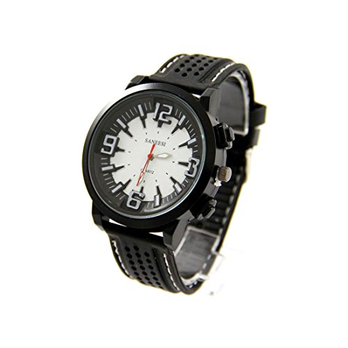 Zeigt Herren Armband Silikon Schwarz SANEESI 1310