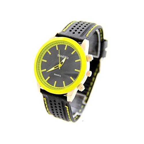 Zeigt Herren Armband Silikon Schwarz SANEESI 1015