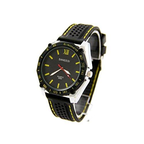 Herren Trend Armbanduhr Silikon schwarz SANEESI 886