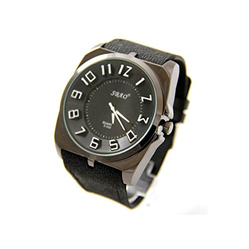 Zeigt Herren Fantasie Armband Silikon Schwarz sbao 2147