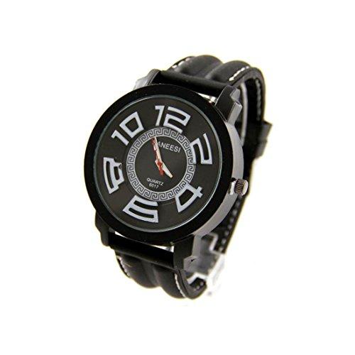 Sehr schoene Armbanduhr Silikon schwarz SANEESI 467