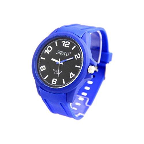 Zeigt Herren Armband Silikon in Blau sbao 2542