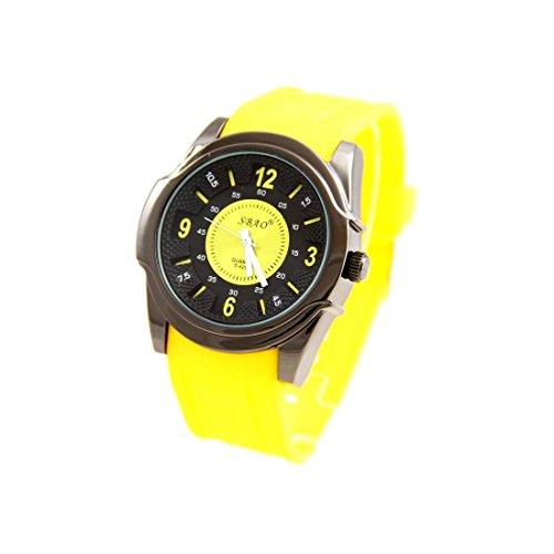 Zeigt Herren Fun Armband Silikon Gelb sbao 2736