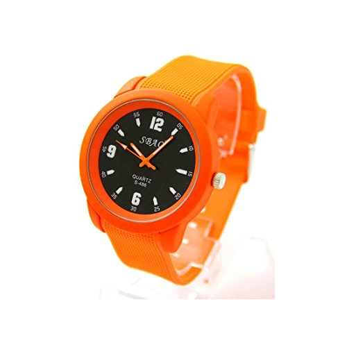 Zeigt Herren Armband Silikon Farbe orange sbao 1855