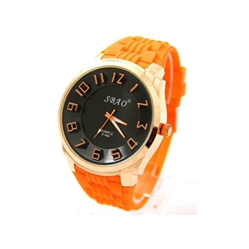 Zeigt Herren Armband Silikon Orange sbao 2088