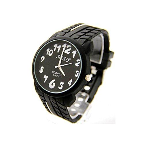 Zeigt Herren Armband Silikon Schwarz sbao 1224