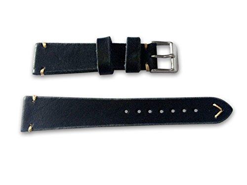 Armband Campagnolo Leder Leder vintage Schwarz 18 mm