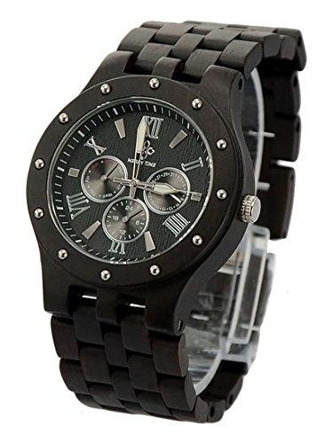 Niceshop Datum Zeit Monat Holz Armbanduhr Antik stylefor Mann oder Frauen Runde