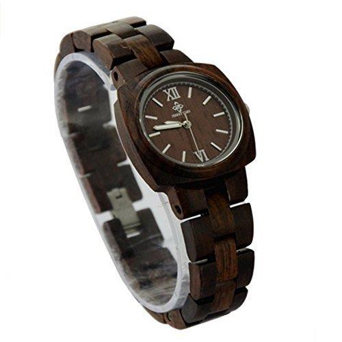 Niceshop Kaffee quadratisch Fall runden Zifferblatt Damen Armband Uhren wasserabweisend Quarz