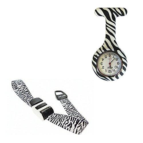 Zebra Krankenschwester Hebamme Geschenk Set mit Taschenuhr und Tourniquet