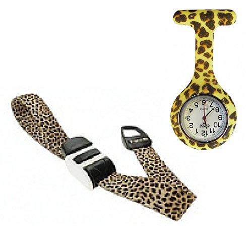 Leopard Taschenuhr und Tourniquet Krankenschwester Hebamme Geschenk