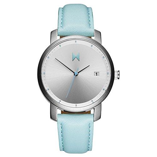 MVMT Damen Watch Uhr Silver Arctic Leder Armband MF01 SAL