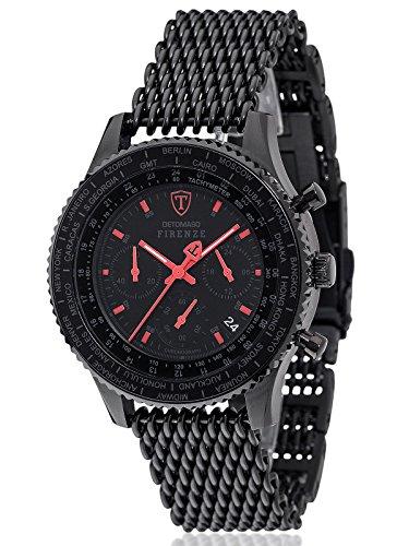 Detomaso Herren Armbanduhr SM1624C BKM