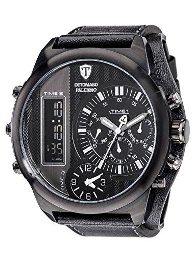DETOMASO Herren Armbanduhr Analog Digital Quarz DT2052 G