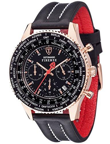 Detomaso Firenze Chronograph Quarz Edelstahl SL1624C RG