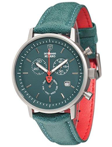 DETOMASO Herren Armbanduhr Chronograph Quarz DT1052 S