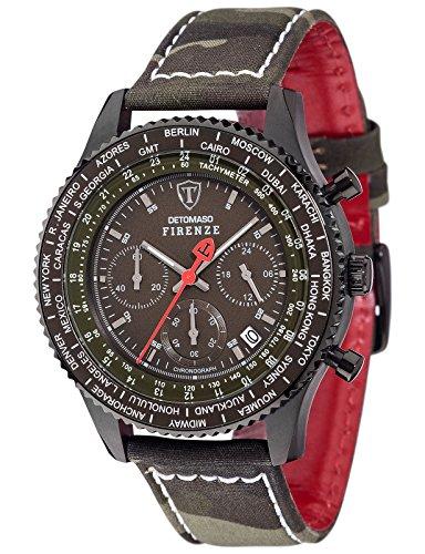 DETOMASO Herren Armbanduhr Chronograph Quarz DT1071 D