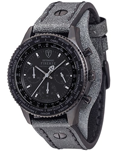 DETOMASO Herren Armbanduhr Chronograph Quarz DT1073 C