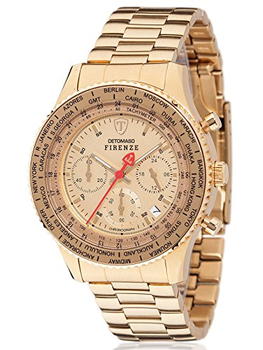 DETOMASO Herren Armbanduhr Chronograph Quarz SM1624C GD