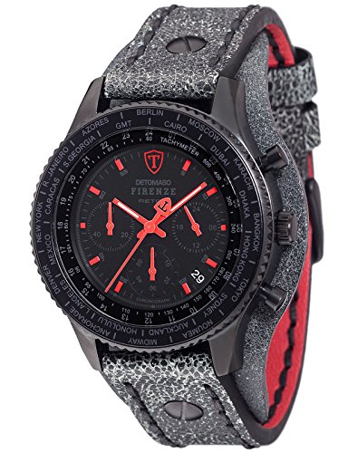 Detomaso Herren Armbanduhr Firenze Retro Chronograph Quarz Edelstahl DT1073 A