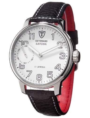 DETOMASO Herren-Armbanduhr SAVONA Analog Handaufzug DT1028-B