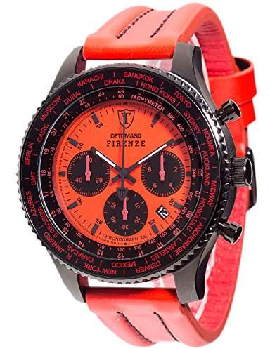 DETOMASO Herren-Armbanduhr Xxl Chronograph Quarz DT1045-C