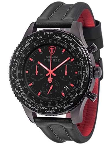 Detomaso Herren-Armbanduhr Firenze Chronograph Quarz Edelstahl DT1045-E