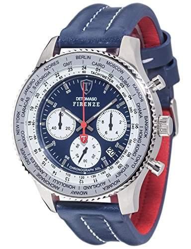 Detomaso Herren-Armbanduhr Firenze Chronograph Quarz Edelstahl DT1045-G