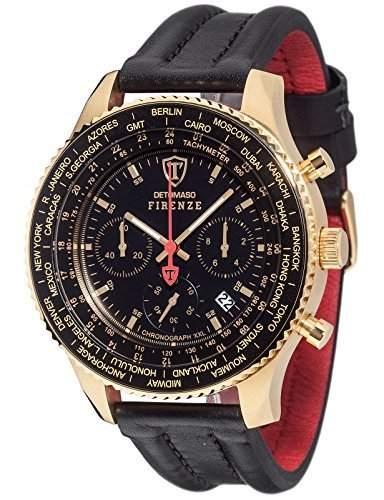 Detomaso Herren-Armbanduhr Firenze Chronograph Quarz Edelstahl DT1045-H