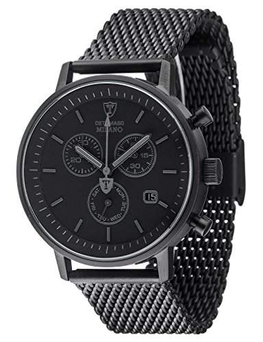 Detomaso Herren-Armbanduhr Milano Analog Quarz Edelstahl DT1052-P