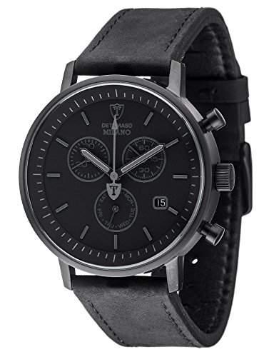 Detomaso Herren-Armbanduhr Milano Analog Quarz Edelstahl DT1052-Q