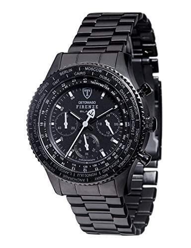 DETOMASO Herren-Armbanduhr Chronograph Quarz DT1068-B