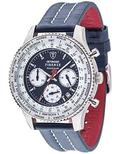 Detomaso Herren-Armbanduhr Firenze Racing Chronograph Quarz Edelstahl DT1069-A