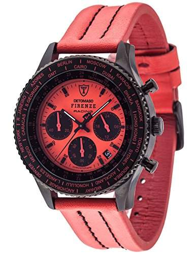 Detomaso Herren-Armbanduhr Firenze Racing Chronograph Quarz Edelstahl DT1069-C