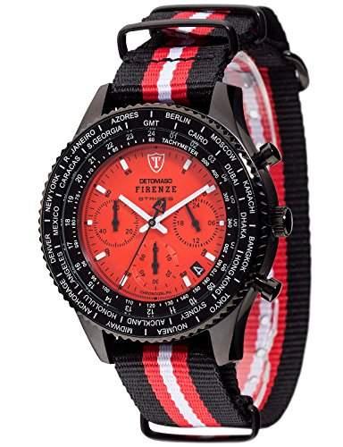 DETOMASO Herren-Armbanduhr Man Firenze Chronograph Quarz DT1070-A
