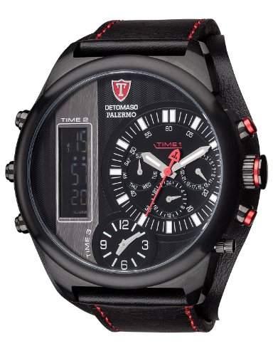 Detomaso Herren-Armbanduhr Palermo Analog - Digital Quarz Leder DT2052-A