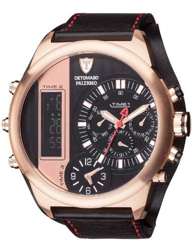 Detomaso Herren-Armbanduhr Palermo Analog - Digital Quarz Edelstahl DT2052-C