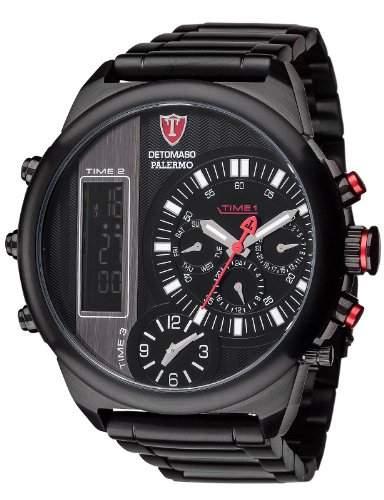 Detomaso Herren-Armbanduhr Palermo Analog - Digital Quarz Edelstahl DT2052-D