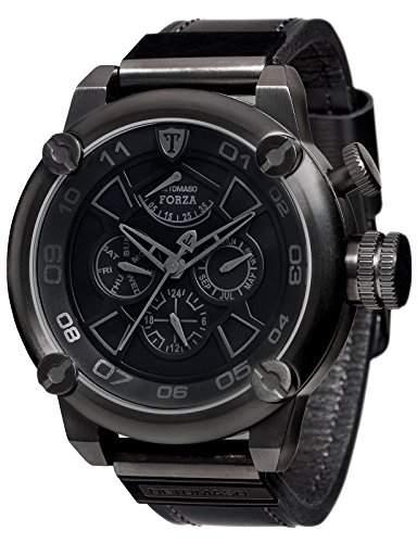 DETOMASO Herren-Armbanduhr Black Analog Automatik DT2056-D