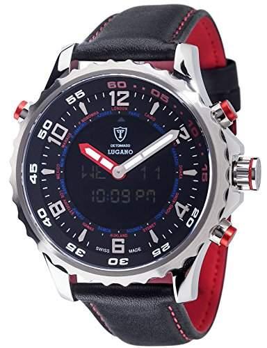 DETOMASO Herren-Armbanduhr Lugano Analog Digital Quarz DT2058-C