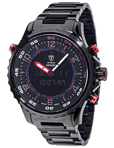 DETOMASO Herren-Armbanduhr Lugano Analog Digital Quarz DT2058-E
