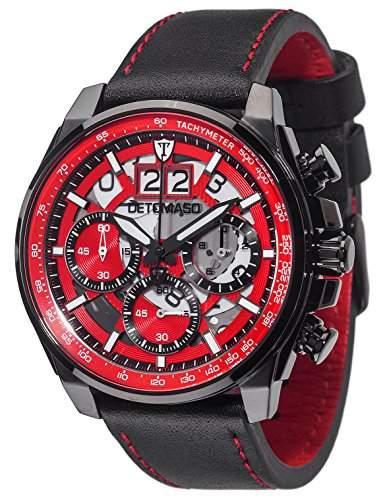 Detomaso Herren-Armbanduhr Livello Analog Quarz Edelstahl DT2060-C