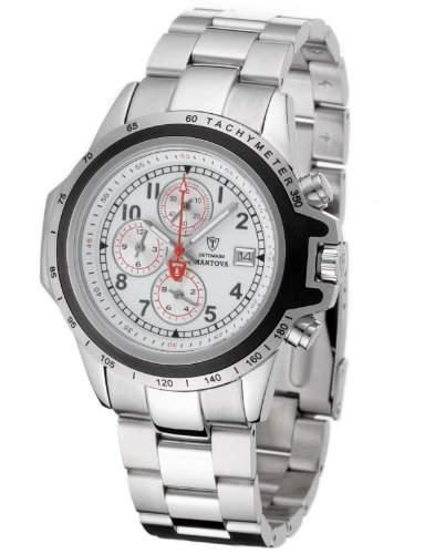 DETOMASO Herrenuhr Mantova White Dial Chronograph G-30817-A
